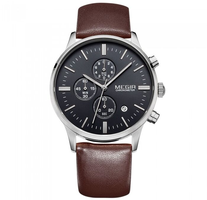 Megir Master Brown/Black 42mm herreur – Megir