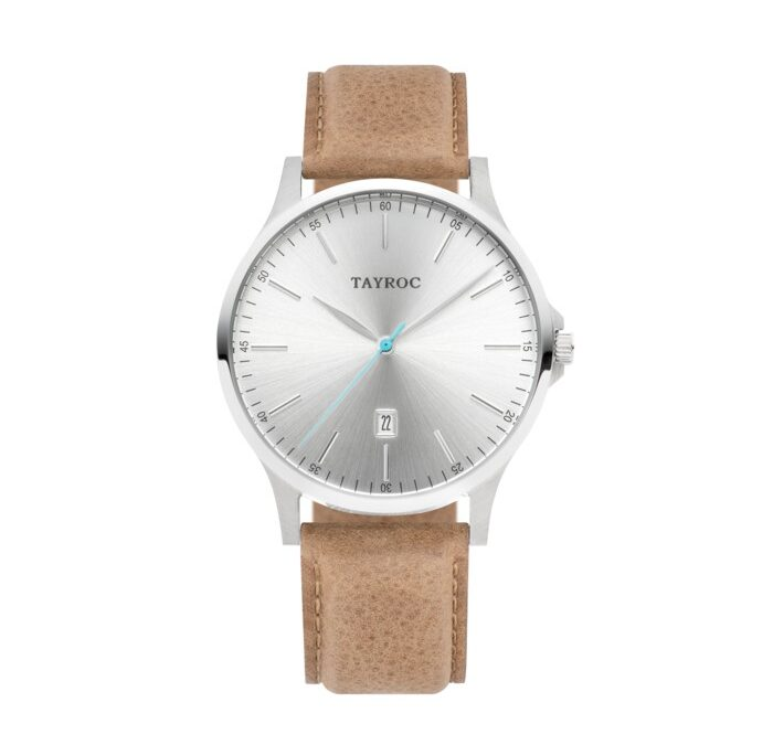 Tayroc TXM100 Tan/Sølv Leather Iconic 42 mm herreur